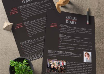 Flyer Amateurs d'art
